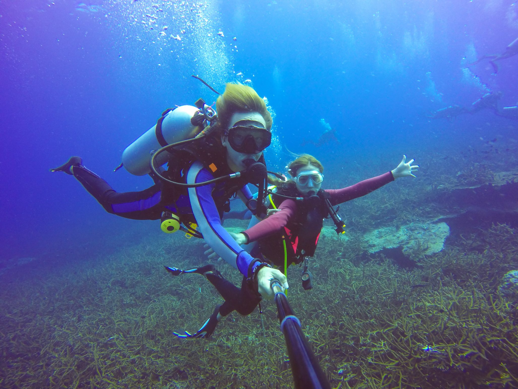 scuba diving holiday in malta - selfie video stick