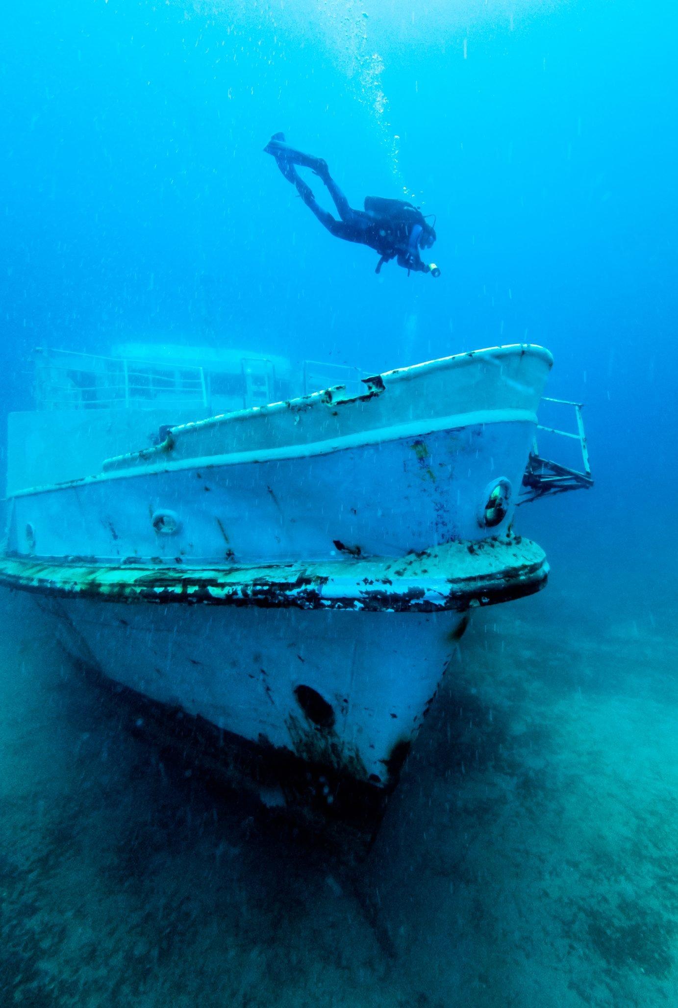 MV Karwela Wreck and Diver - Gozo, Malta
