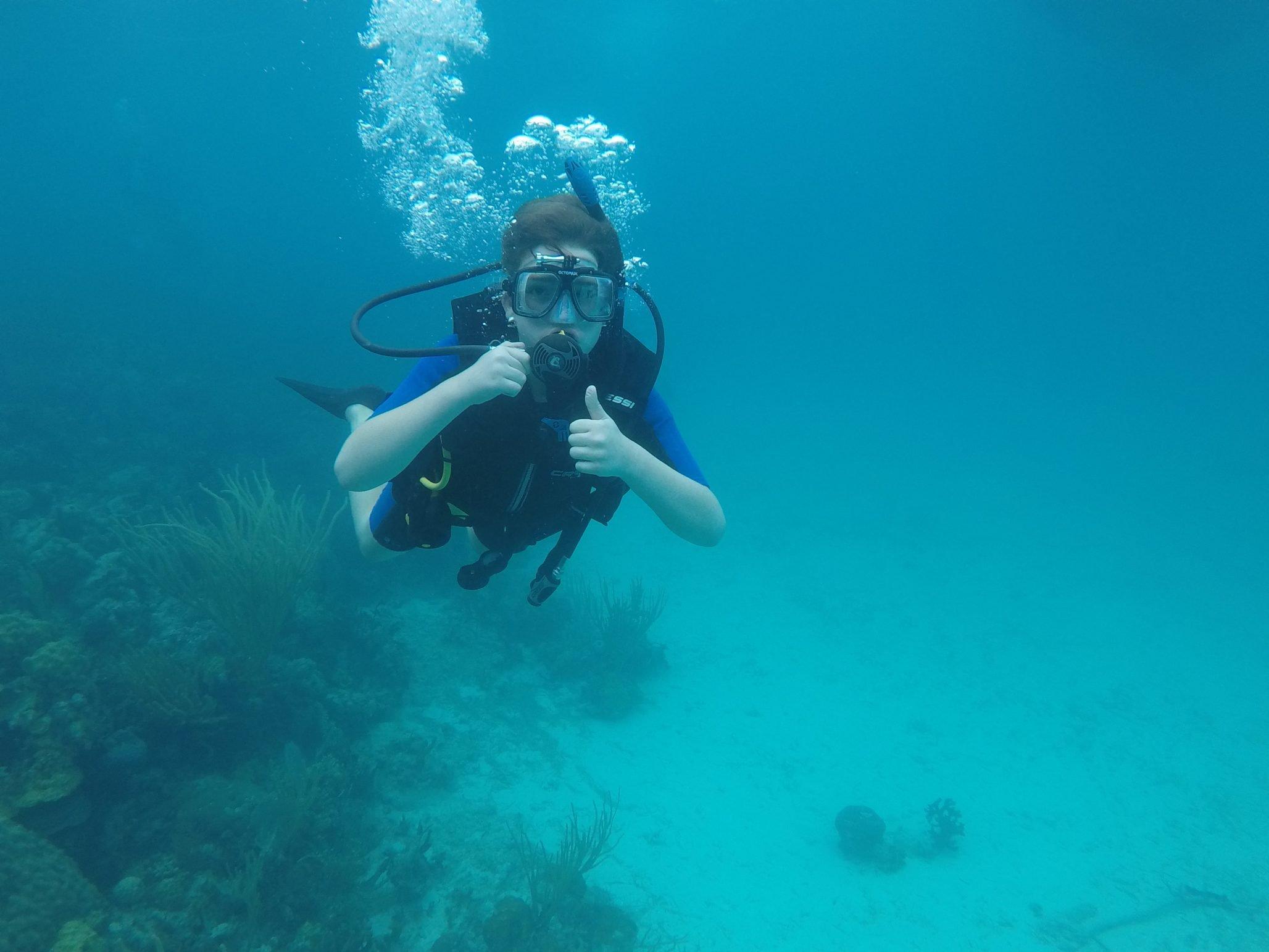 Trainee Scuba Diver, Gozo, Malta